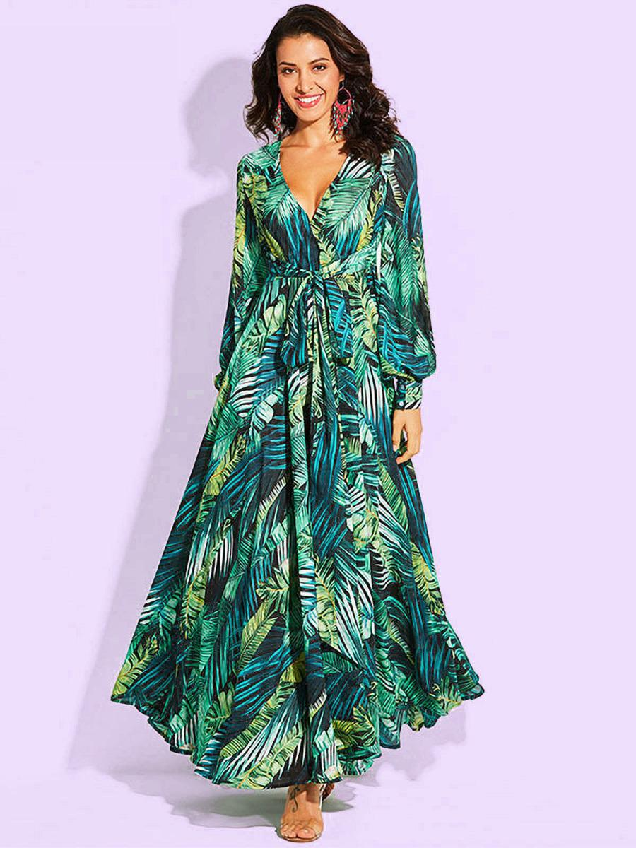 shestar wholesale lantern sleeve womens maxi dresses