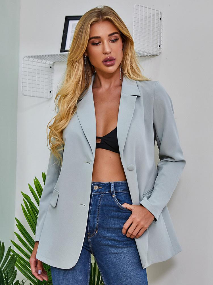 shestar wholesale single breasted solid color office blazer suit