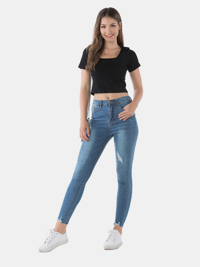 shestar wholesale womens skinny ripped jeans